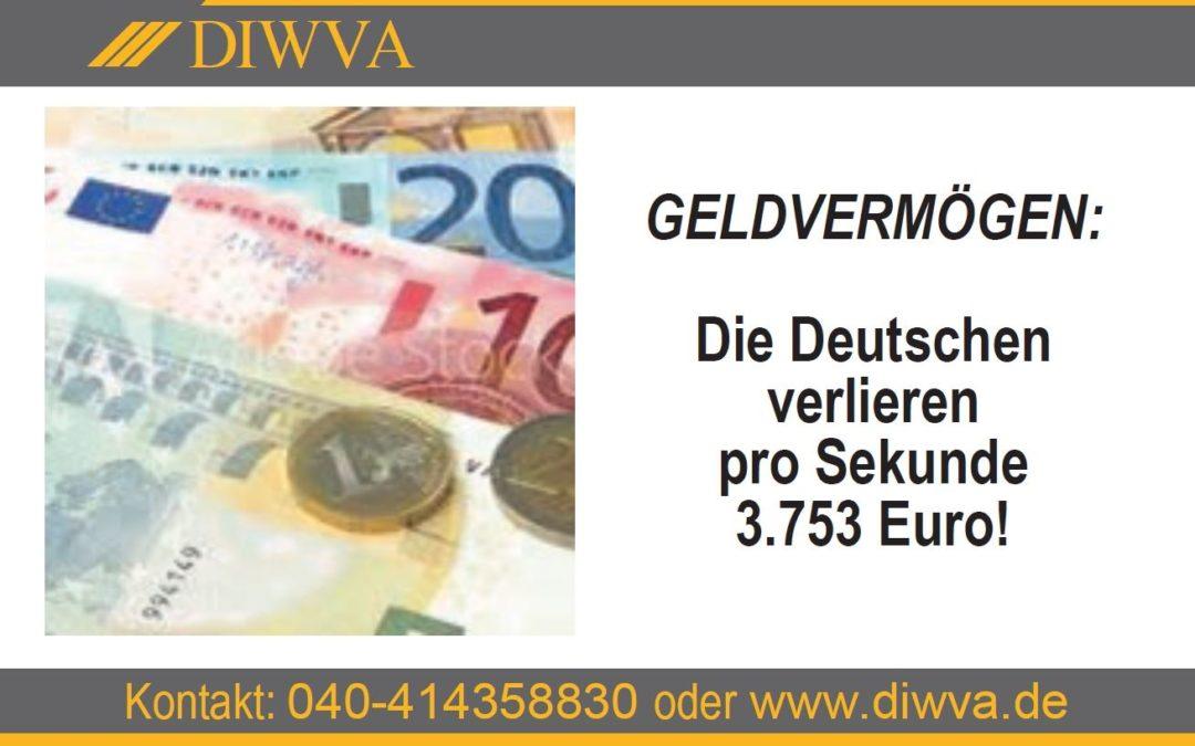 Die Deutschen verlieren pro Sekunde 3.573 Euro
