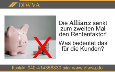 Riester-Rente: Nun senkt die Allianz den Rentenfaktor schon zum zweiten Mal!